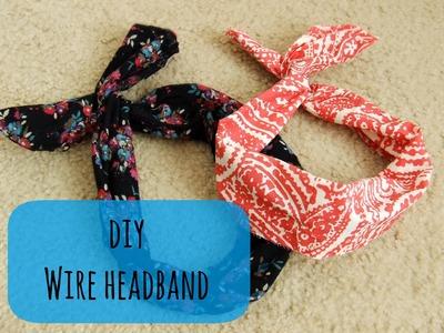 DIY NO SEW WIRE HEADBAND