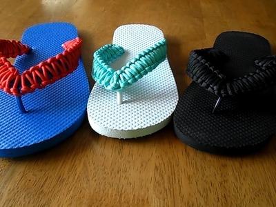 DIY Paracord Flip Flops Tutorial - Birthday Gifts For Men