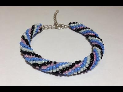 DIY Spiral Crochet Bracelet with Beads