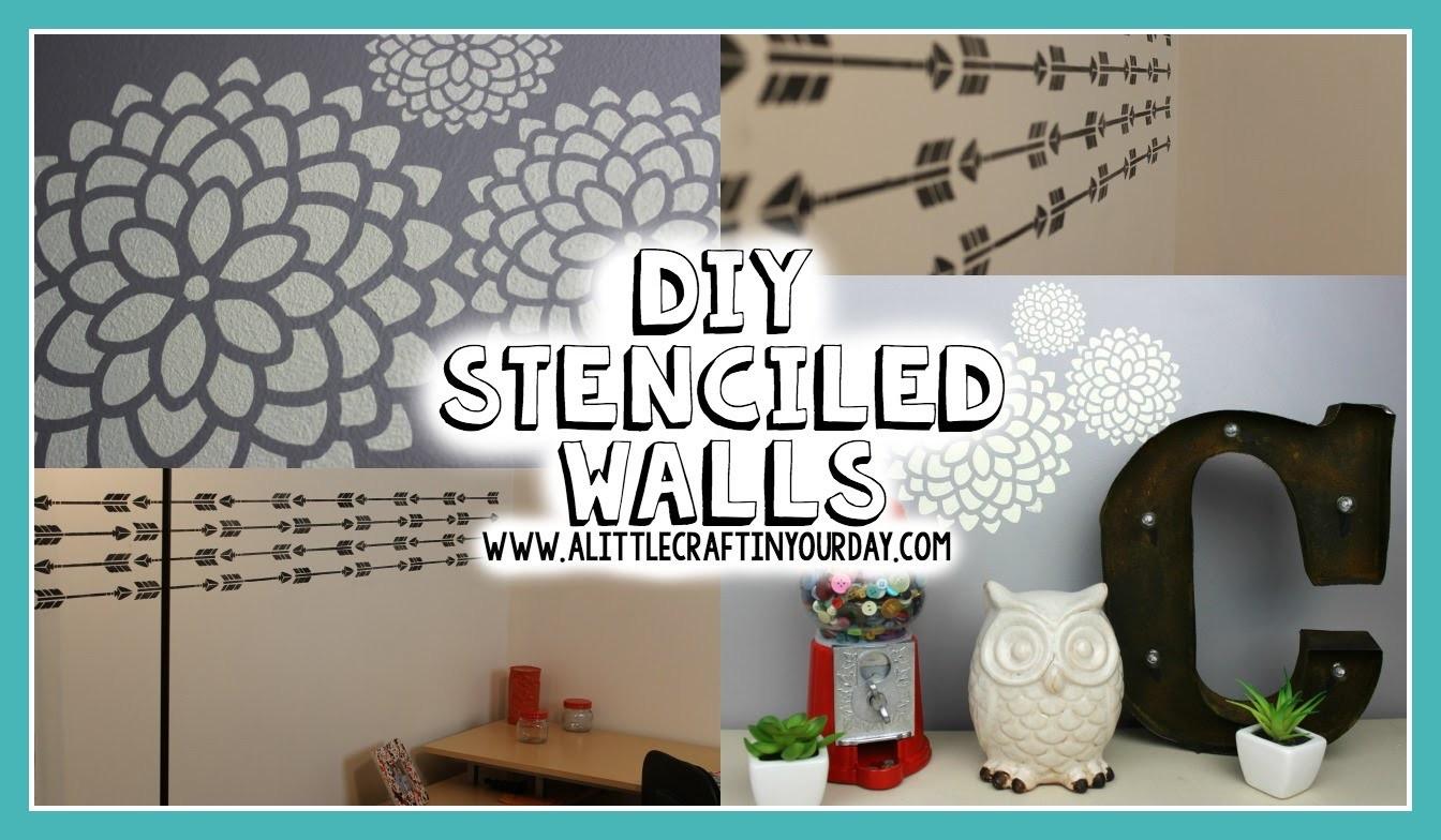 DIY Stenciled Wall | Easy DIY & Teen Room Decor