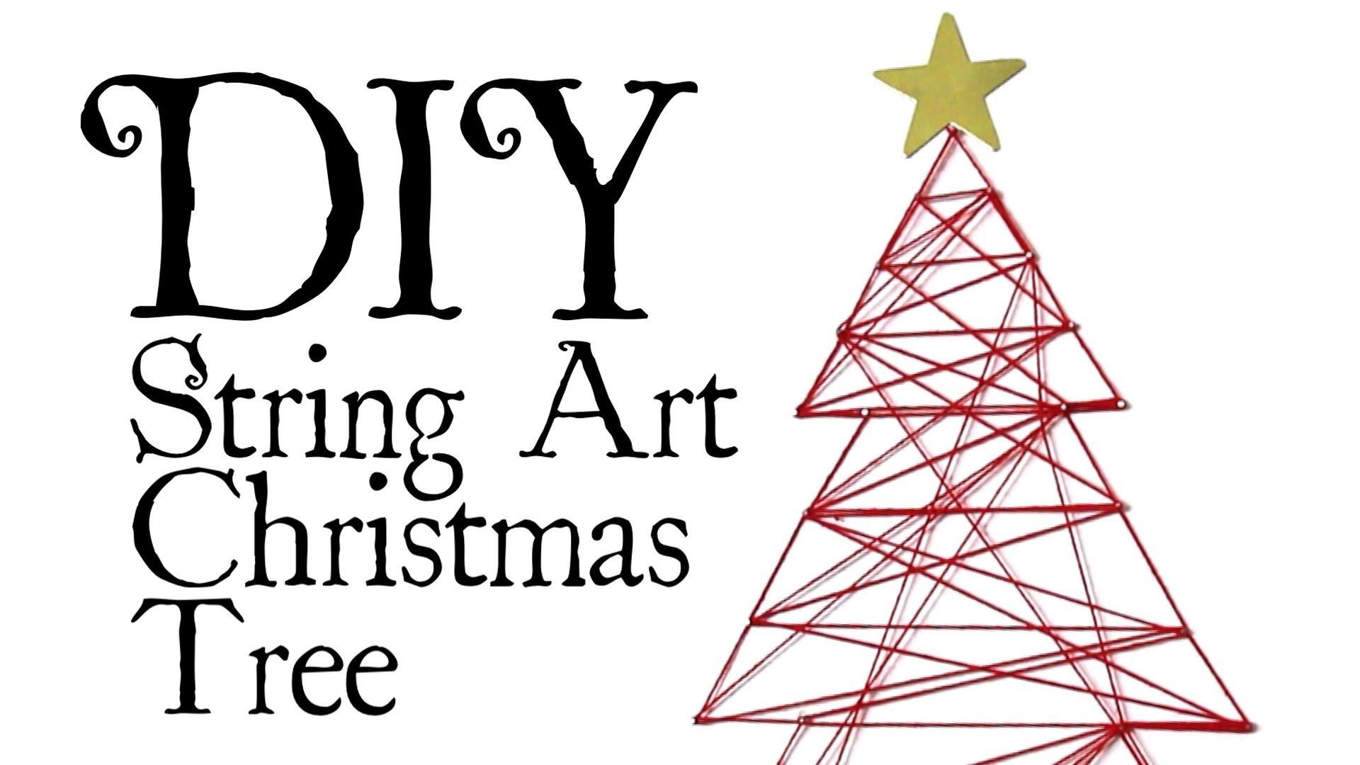 DIY String Art Xmas Tree - Broke for the Holidays