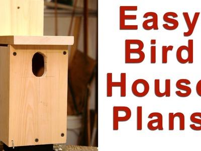 Easy Birdhouse Plans - DIY GardenFork.TV