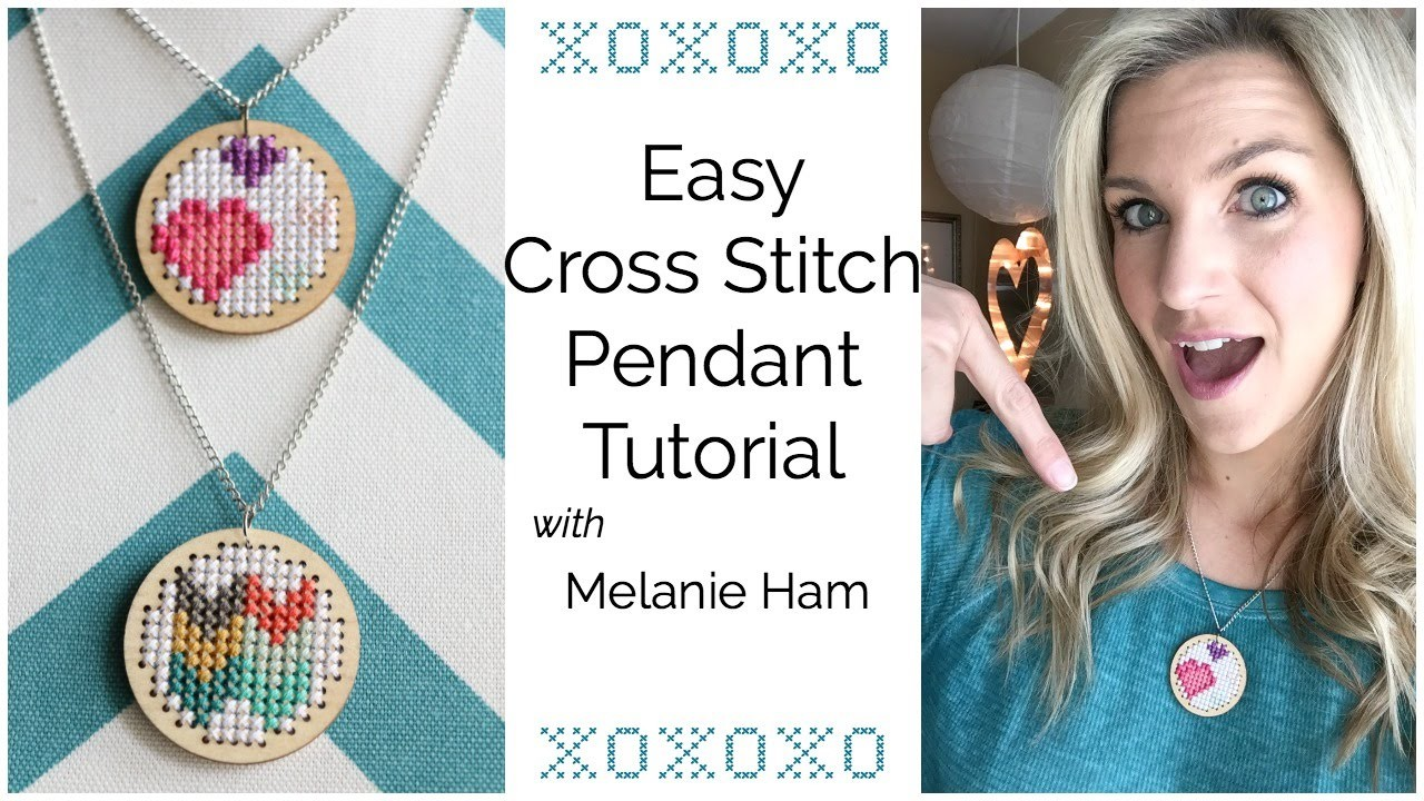 Easy Cross Stitch Pendant Tutorial