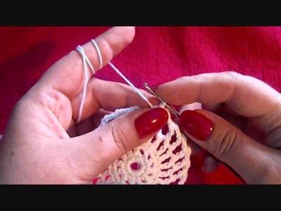 Häkeln Tischdeckchen Teil 1. crochet tablecloth part 1