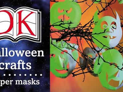 Halloween Crafts: Paper Plate Masks