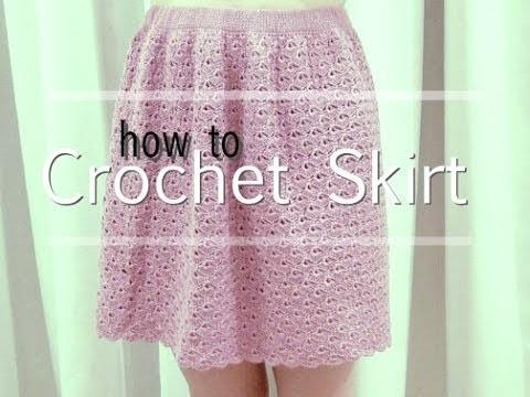 How To Crochet Skirt Part 2 of 2