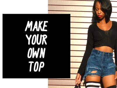 How To Make a Cute Top Out of A Pair Of Leggings!