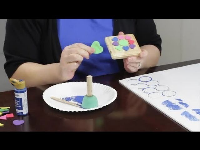 How to Make a Stamp for Paint Effects : Craft Projects With Paint