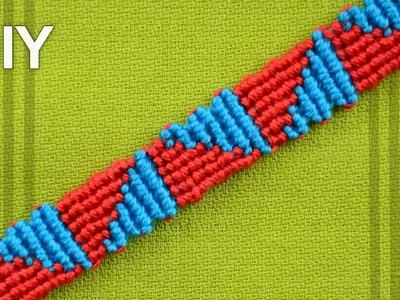 How to make a Triangle Friendship Bracelet (DIY)