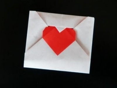 How to make an Origami Love Letter