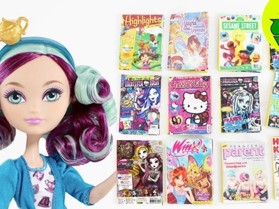 How to make doll magazines - Doll Crafts