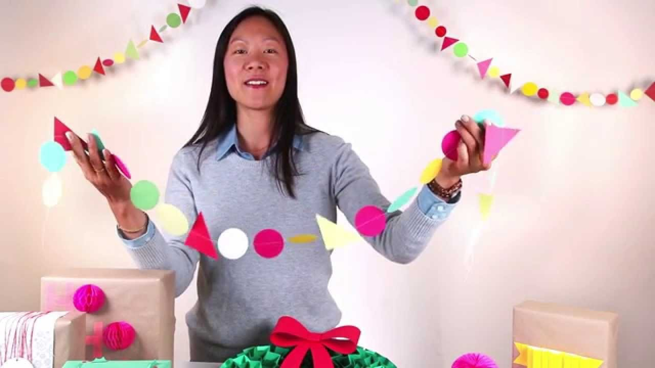 How to make your own DIY paper garland