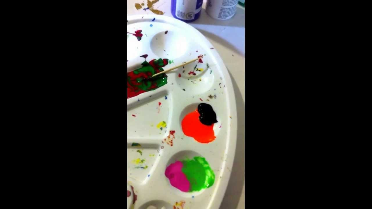 How to paint designs on wooden earrings