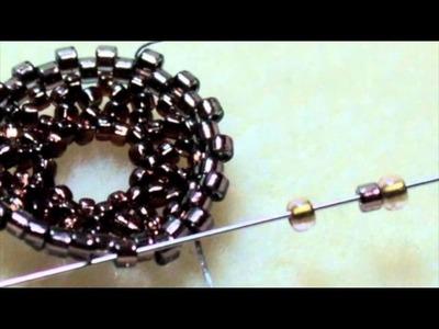 How to Seed Bead Around a Crystal Rivoli Stone Using Circular Peyote Stitch