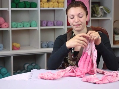 How to Shrink a Knit Scarf : Fiber Arts