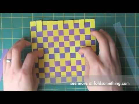 How to weave paper for making origami and other paper crafts