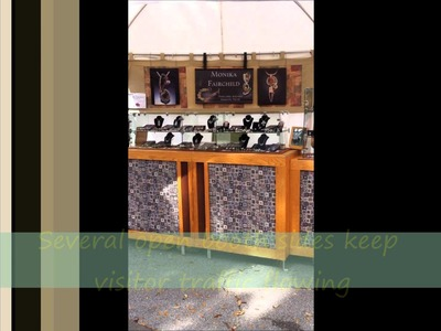 Jewelry display and booth ideas for craft fairs and art festivals