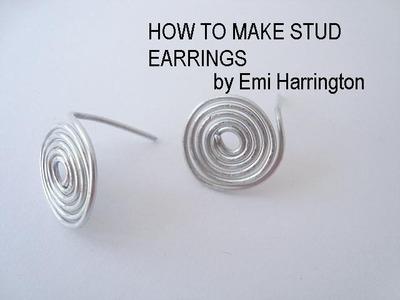 JEWELRY MAKING, How to make stud earrings.