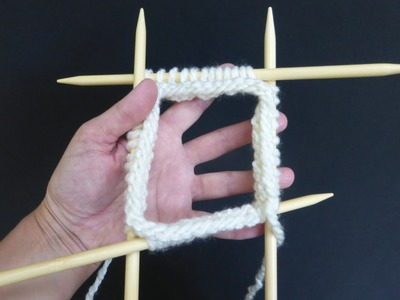 KNITTING FOR BEGINNERS - Cast On on Double Pointed Needles - version #2