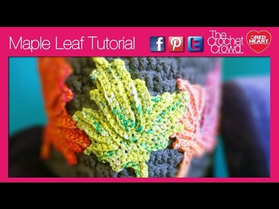 Left Hand: Crochet Maple Leaf