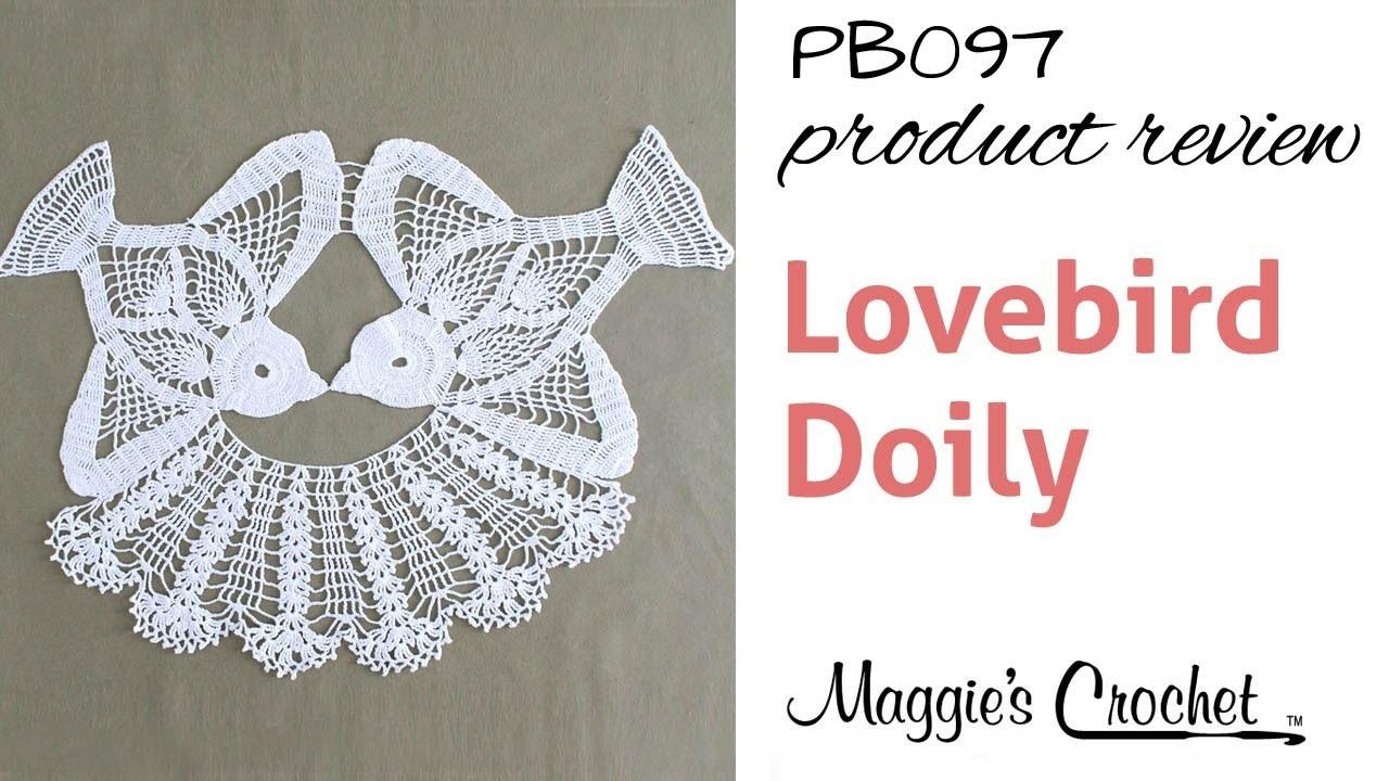 Lovebird Doily Crochet Pattern Product Review PB097