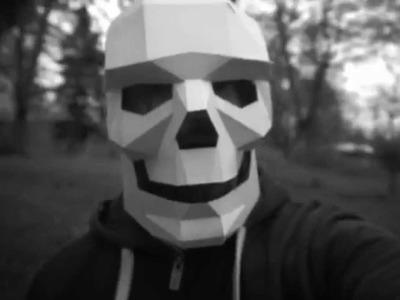 "Made a ""SKELETON"", DIY Geometric Paper Masks by Steve Wintercroft"