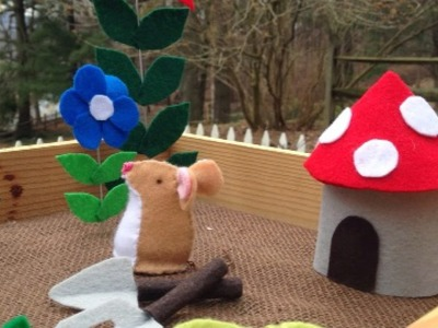 Make a Fun Felt House and Garden Tools - DIY Crafts - Guidecentral