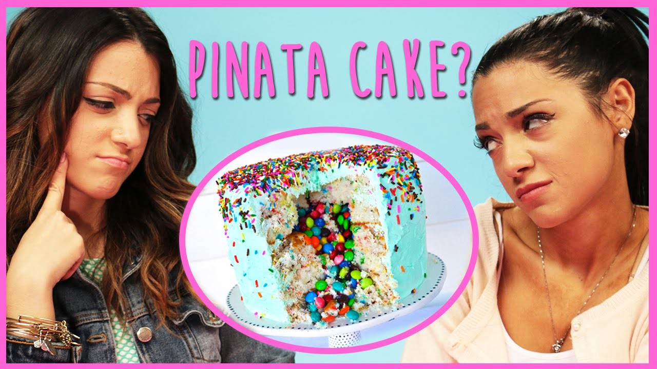 NikiAndGabiBeauty DIY Pinata Cake?! | DIY or Di-Don't