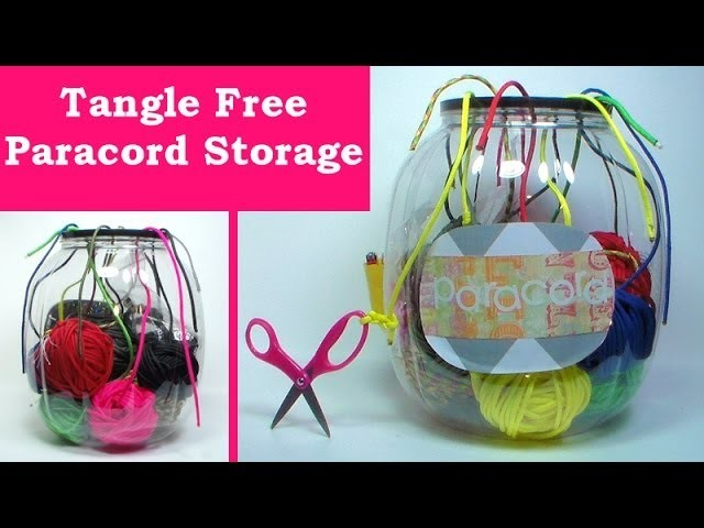 No tangle paracord storage