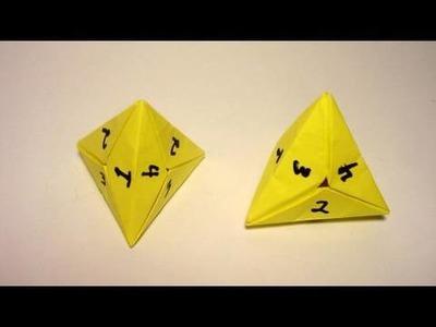 Origami 4 Sided Dice (tetrahedron)