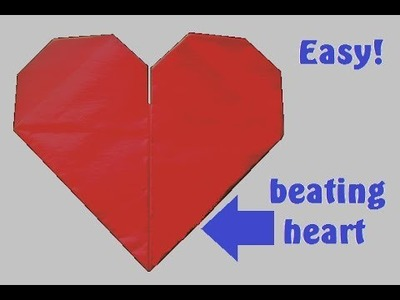 Origami Beating Heart ( Mother's Day ). (Full HD)