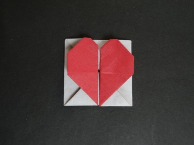 Origami Heart Tutorial - How to fold Origami Heart Box.Envelope