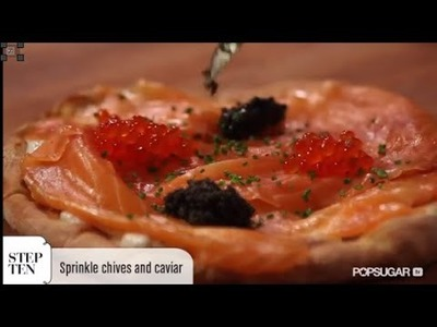Pizza With Smoked Salmon and Caviar Recipe From Wolfgang Puck