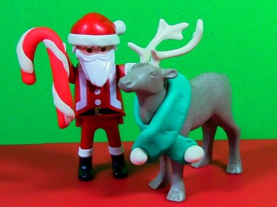 Play Doh Santa Reindeer Scarf Candy Cane Play Dough DIY