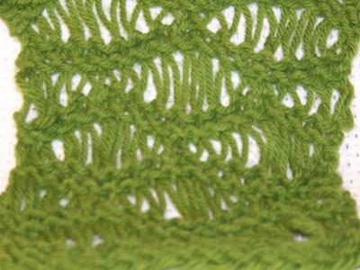 Seafoam Stitch on a Loom