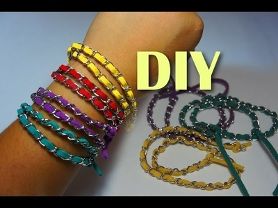 Style File - Chain Wrap Bracelets DIY