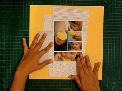 Sunshine scrapbook layout process