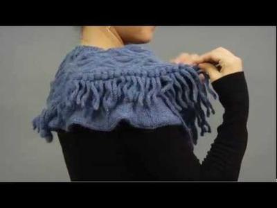 #26 Medallion Scarf, Vogue Knitting Holiday 2009
