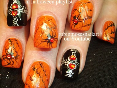 3 Halloween Nail Art Tutorials! - Easy Nail Art for Beginners!