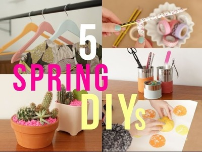 5 Easy Spring DIYs | essiebutton #SpringTrilogy