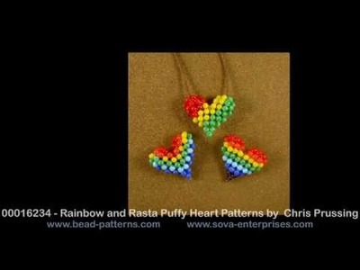 Bead Patterns - Beaded Puffy Heart