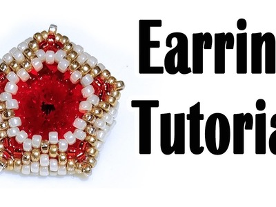BeadsFriends: Earring tutorial - How to make a Rivoli post earring using seed beads