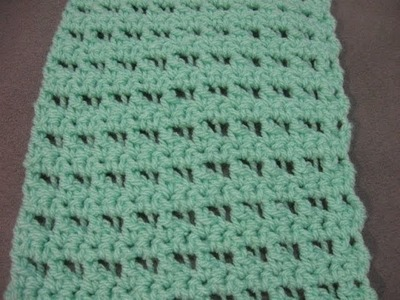 Butterfly Stitch Scarf or Blanket - Left Handed Crochet Tutorial