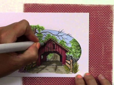 Copic in the Craft Room: Matching Your Patterned Papers