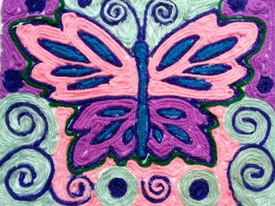 Create a Pretty Yarn Art of Butterfly - DIY Crafts - Guidecentral