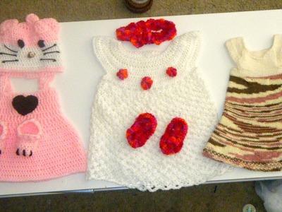 Crochet BABY DRESS SETS IDEAS