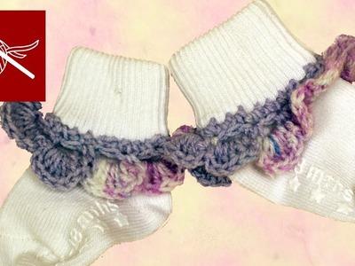 CROCHET BABY SOCK EDGING Crochet Geek