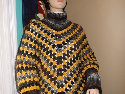Crochet Poncho With Sleeves