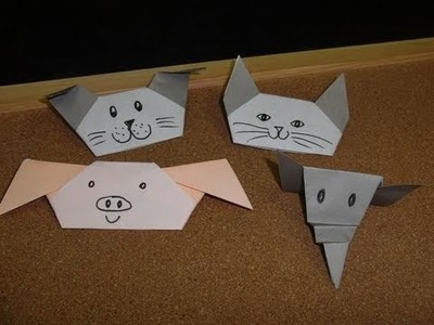 Daily Origami:  269 - Animal Finger Puppets