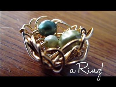 DIY: Bird Nest Ring